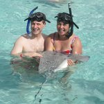 Holding a Sting Ray!