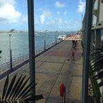 Vista do píer do Marco Zero em Recife