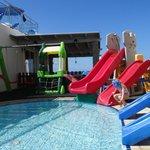 swimming pool and children's playground