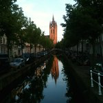 Typical view from The City of Old Delft, Best Western is adjacent the Old Church