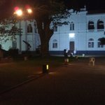 Colombo museum compound at night