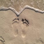 Beach area...my footprints