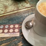 Wonderful coffee, (inc: loyalty card) served by a charming host, in a beautiful setting!!