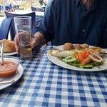 Calamar al Grill with papas arrugadas & salad