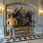 VIEW INSIDE MAIN HALL OF FOUR SEASONS HOTEL DES BERGUES, MAY 2014.