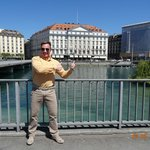 VIEW IN FRONT OF FOUR SEASONS HOTEL DES BERGUES, MAY 2014.