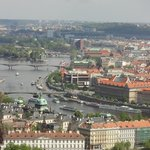the hotel seen from the Prague Castle