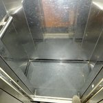 The interior of The Holiday Diamond's compact elevator