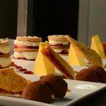 platter of desserts