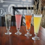 $4 House Infused Champagne Cocktails During Brunch on Sundays