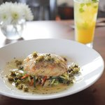 Fresh Catch of the Minute. Snapper Piccata seen here