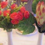 plastic flowers!!
