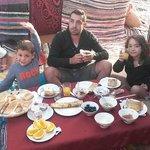 petit déjeuné au coeur du désert