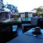 The Kana Kuta- Pool view from restaurant - 9am