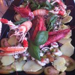 Cicala di Mare, Gamberoni Rossi,  Scampi e patate in panzanella.