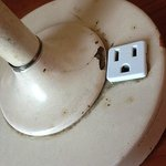 filthy damaged lamp