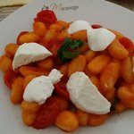 Gnocchi with tomato and buffalo mozzarella