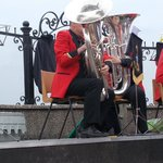 Brass on the band stand by the sea