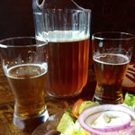 Great beer -- fabulous Greek salad!