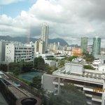 部屋から街の眺め