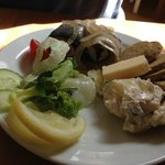 roll mop herring with oatcakes