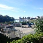 Caernarfon Castle as the WHR approaches its terminus
