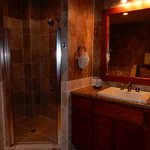 Shower stall and sink area