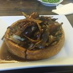 Toad in the hole entree