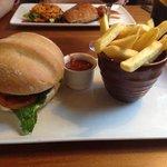 wild boar and chorizo burger. belly pork.