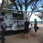 One of the food carts down the beach
