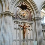 Clock inside the Wells Cathedral