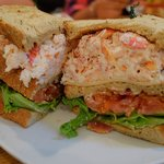DEEEELicious Lobster Club Sandwich -- enough for TWO