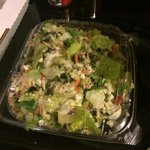 This picture does not do it justice, the chopped salad is huge and delicious! I get mine meat fr
