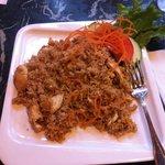 Riz thaï œuf poulet