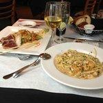Ahi Tuna and Seafood Linguini