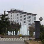 豊(ほう)公園から見たホテル