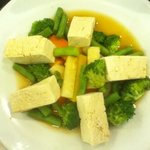 Steamed tofu and vege with supreme sauce