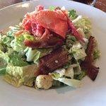 insalata con astice e bacon. Molto buona