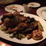 whole chicken for two...with root veg.