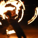 Fire Dancing Display - high energy