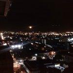 el casco central de noche