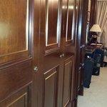 Closet doors upon entering room