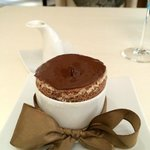 Grand Marnier Chocolate Souffle with Vanilla center