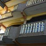 Room balconies.