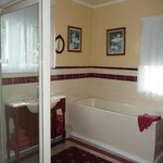 Generously sized bathroom