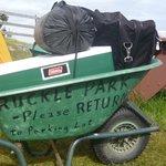 Wheelbarrows to take gear to walk-in campsites
