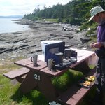 Cooking at waterfront sites can be tricky if windy