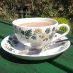 Tea in the Sun in a lovely setting