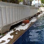 crumbling concrete pool walls everywhere