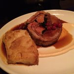 The saddle of lamb